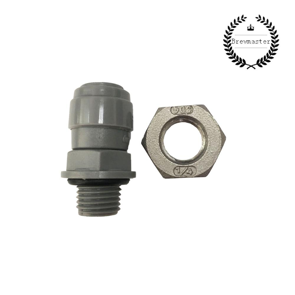 DUOTIGHT - 8MM (5/16) X 1/4 BSP MALE BULKHEAD (WITH SEATED O-RING) INCLUDES LOCKING NUT (SUITABLE FOR 60CM THERMOWELLS)