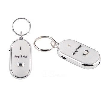 Inalámbrico localizador de llaves por silbido Flash de Control remoto de alarma llavero AS99