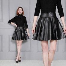 2020 Women New Real Genuine Sheep Leather Skirt K21 2020 women new real genuine sheep leather skirt k4
