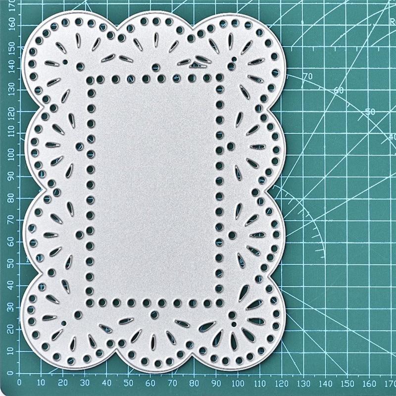 Lace Frame Metal Cutting Dies Stencil DIY Scrapbook Paper Card Embossing Craft