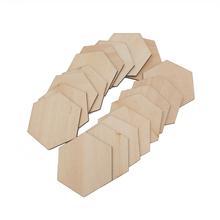 10-60mm Unfinished Holz Ausschnitt Stück Hexagon Natürliche Unfinished Handwerk Holz Blöcke Holz Würfel für DIY Handwerk Geschenke cheap CN (Herkunft) wood Wedding Party Christmas