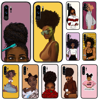 2bunz Melanin Aba African girl Phone case For Huawei P 9 Smart 10 20 30 40 8 Lite Mini Z 2019 Pro black cover tpu shell silicone image