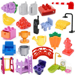 Kids Toys Bed-Chair Building-Blocks Drawer Toilet Sofa Banana City Duplo City-Accessories