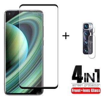 4-in-1 Per Xiaomi Mi 10 Ultra Vetro Per Mi 10 Ultra Protetor Schermo di Vetro Di Protezione Per mi Nota 10 Lite Pro Mi 10 Ultra di Vetro