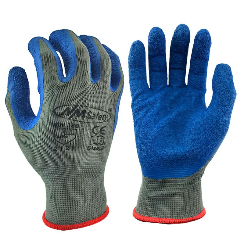 50 PAIRS OF Nylon LATEX RUBBER WORK GLOVES GARDENING SAFETY GRIP Glove