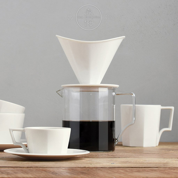 Japan Imported Coffee Drip Sets Ceramic/Glass Dripper Pitcher Kettle V60 Glass Coffee Filter Reusable Coffee Filters