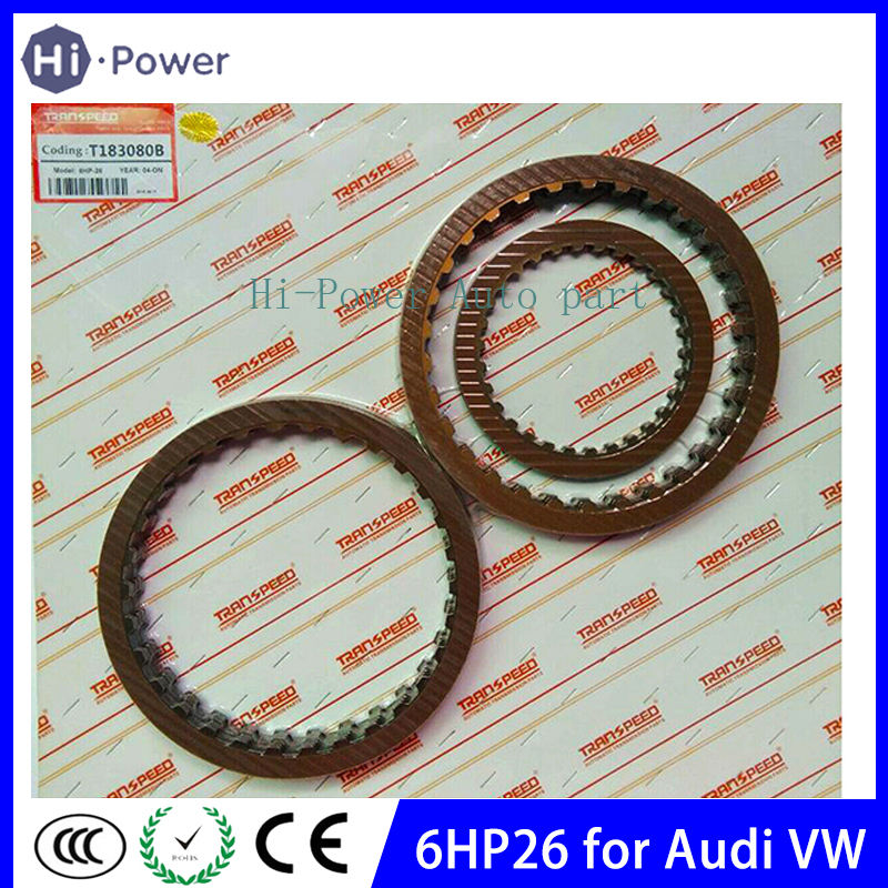 6HP26 Gearbox Automatic Transmission Friction Kit Clutch Plates For VW AUDI  ZF 6HP-26