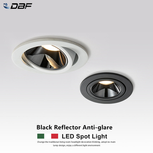 [DBF]2020 New Anti-glare LED Recessed Downlight Dimmable 7W 12W LED Ceiling Spot Light 3000K/4000K/6000K Angle Adjust Spot Lamp(China)