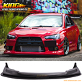 Подходит для 2008-2015 Mitsubishi Lancer Evolution X V style переднего бампера губ + сплиттер