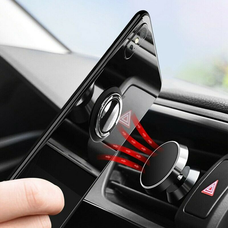 Car Phone Holder Stand Bracket 360 Degree Dashboard Magnetic Holder For Mobile Phone Magnet Air Vent Grip Mount For IPhone Xs
