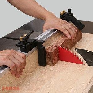 Image 4 - Gehrung Track Stop Track Grenze Für T Slot T Tracks Stop Rutsche Limiter Locator Holzbearbeitung DIY Manuelle Werkzeuge