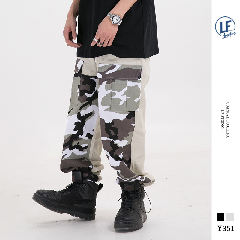 Lawfoo2019 Autumn And Winter New Products Country Popular Brand Origional Men'S Wear Trend Camouflage Joint Ankle Banded Pants L