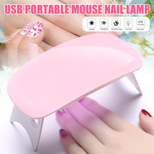 Hot New 6W Mini LED UV Nail Lamp Nail Dryer Portable Folding USB 6 LEDs Nail Dryer for DIY Nail Art Nail Tools @ME88 cheap Y W F 200g 131x57x19mm UV Lamps Nail Dryers Plastic Other