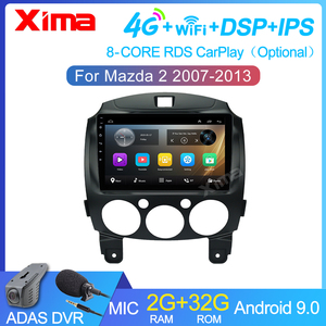 9 inch 2 Din Dvd Car Multimedia Video Player Car Android 9.0 for Mazda 2 2007-2014 2din Car Radio GPS Navigation Stereo Radio
