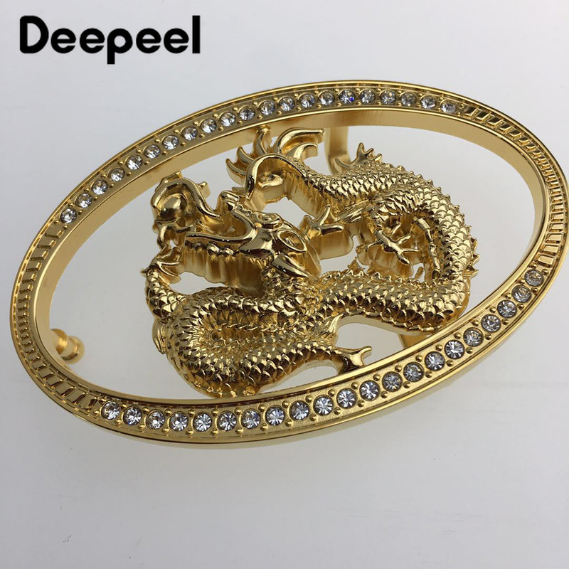Deepeel 1pc Solid Brass Belt Buckles Men Brushed Metal Automatic Buckle For Belt 37-38mm Waistband Belt Head DIY Leather Craft