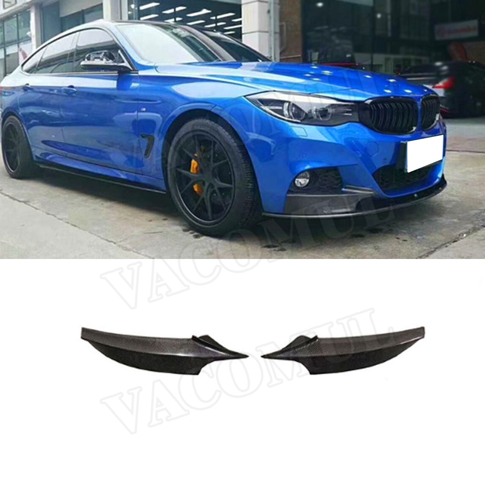 Carbon Fiber / FRP Front Bumper Splitters Lip Flaps Cupwings for <font><b>BMW</b></font> 3 Series <font><b>GT</b></font> <font><b>F34</b></font> M Sport 2014-2018 Bumper Aprons Trims image