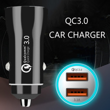 Quick Charge 3.0 Mini USB Car Charger For iPhone X 8 7 Phone Dual in Samsung Xiaomi Huawei