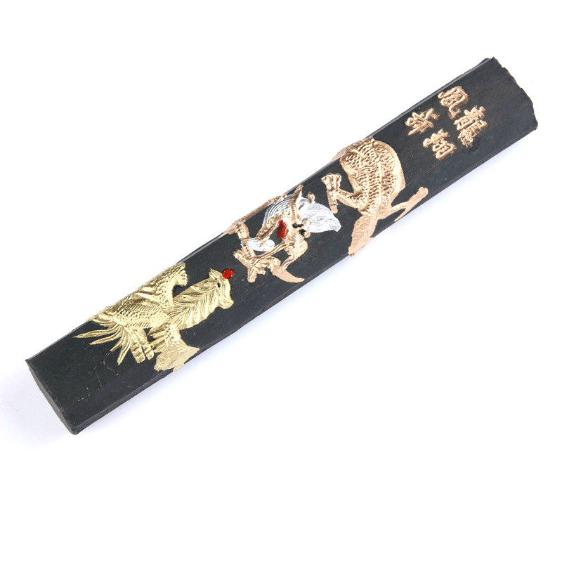 Ink Stick Chinese Painting Calligraphy Ink Block Exquisite Pine Soot Calligraphy Ink Stick Grinding Inker Caligrafia China