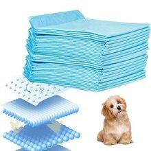 100 шт., одноразовые пеленки для домашних животных с мочой, пеленки для собак, кошек, дезодорант, поглощение приучение к туалету, домашние уличные Детские впитывающие прокладки