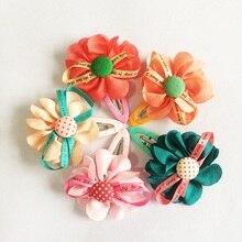 1 Pcs/lot New Brand Children Hair Accessories Chiffon Flower Hairpins Headwear Girls Kids Gift Clip