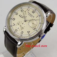 42mm Parnis mechanical watch men stainless steel waterproof