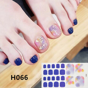 Image 3 - 1Sheet Adhesive Toe Nail Sticker Glitter Summer Style Tips Full Cover Toe Nail Art Supplies Foot Decal for Women Girls Drop Ship