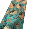 Зеленая новейшая африканская кружевная ткань 2021, Золотая вышитая сетка, свадебные нигерийские кружевные ткани, гипюр, тюль, шнур, французск...