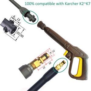 Image 3 - החלפת לחץ מכונת כביסה אקדח שטיפת מכוניות ניקוי מים תרסיס אקדח לאנס נחיר אקדח לאנס שרביט זרבובית לאנס K2 ~ K7