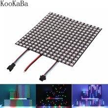 Panneau lumineux numérique Flexible et individuel WS2812B LED WS2812 8x8 16x16 Led Module, écran matriciel, DC5V