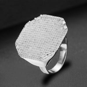 Image 4 - GODKI 2019 Trendy Square Geometry Cubic Zircon Stacks Rings for Women Finger Rings Beads Charm Ring Bohemian Beach Jewelry 2019