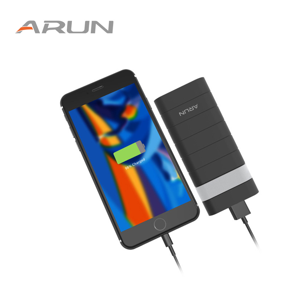 ARUN 12500mAh <font><b>Power</b></font> <font><b>Bank</b></font> Dual USB Powerbank External Battery With 2.1A Fast Portable Charger For iPhone Samsung Huawei <font><b>Xiaomi</b></font> image