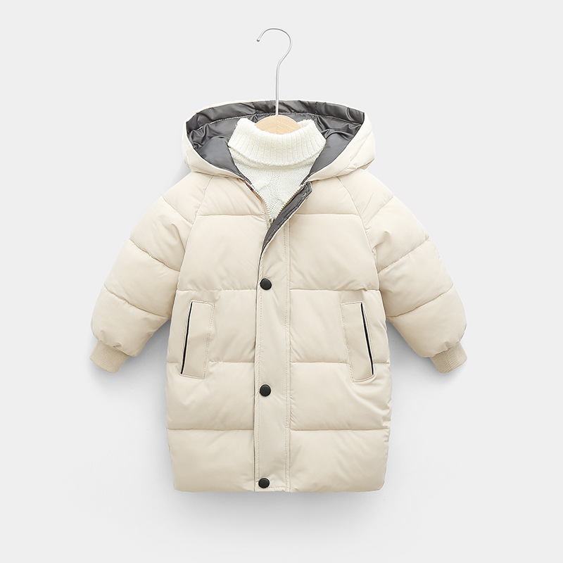 Sundae Angel Children Coat Winter Girls Down Cotton Padded Kids Hooded Solid Down Jacket For Boy Warm Child Outerwear Clothes 3
