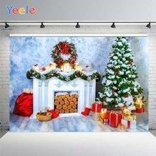 Yeele Рождественский Фотофон с изображением снежной елки камина