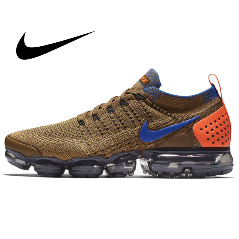 Original Nike Air Vapormax Flyknit 2.0 Men Sneakers Cushioning Running Shoes Lightweight Low-top Fitness Good Quality 942842