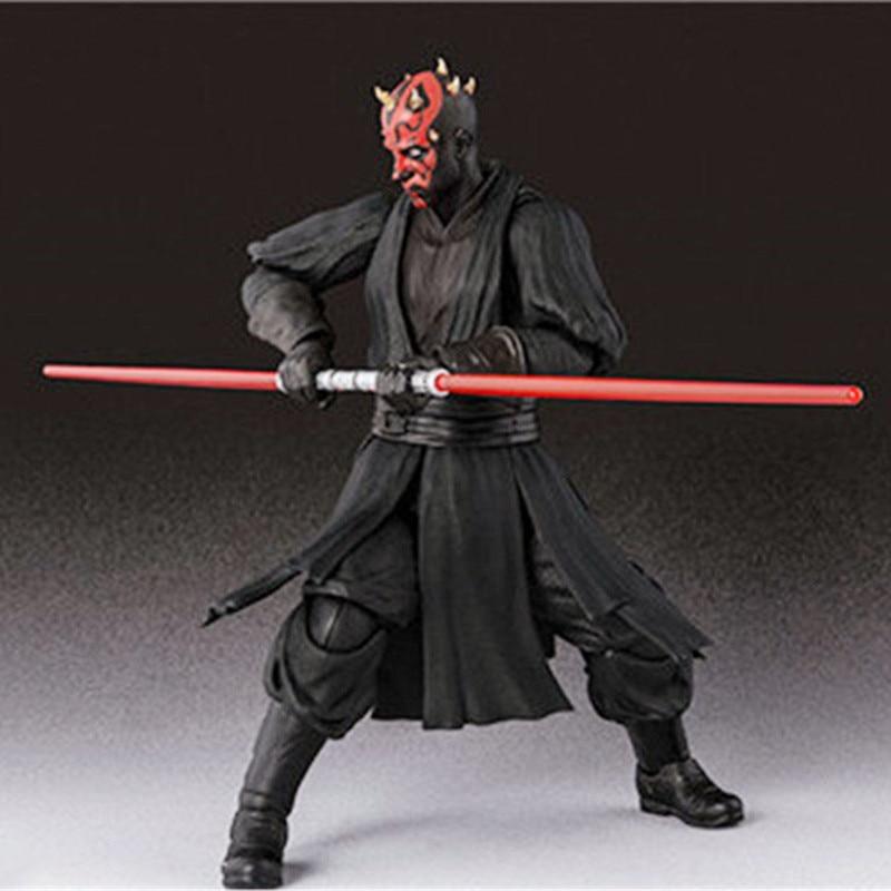 15cm Shf Star Wars Darth Maul Lightsaber Black Series Action Figures Super Movable Joints Face Change Pvc Models Gifts Figures 4