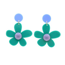 Oorbellen Pendientes Xuan Elegant Girl Flower Acrylic Earring Female Cross-border Geometricbrincos Boucle D Oreille Brinco Women