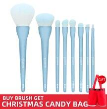 8PCS Makeup Brushes Sets Powder Foundation Blusher Eyeshadow Brush Candy Cosmetic Colorful Make Up NO MSQ LOGO Christmas Gift
