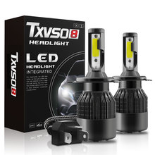 유니버설 높은 전원 T2 LED 자동차 헤드 라이트 자동 전조 등 전구 H4 6000K Led 안개 빛
