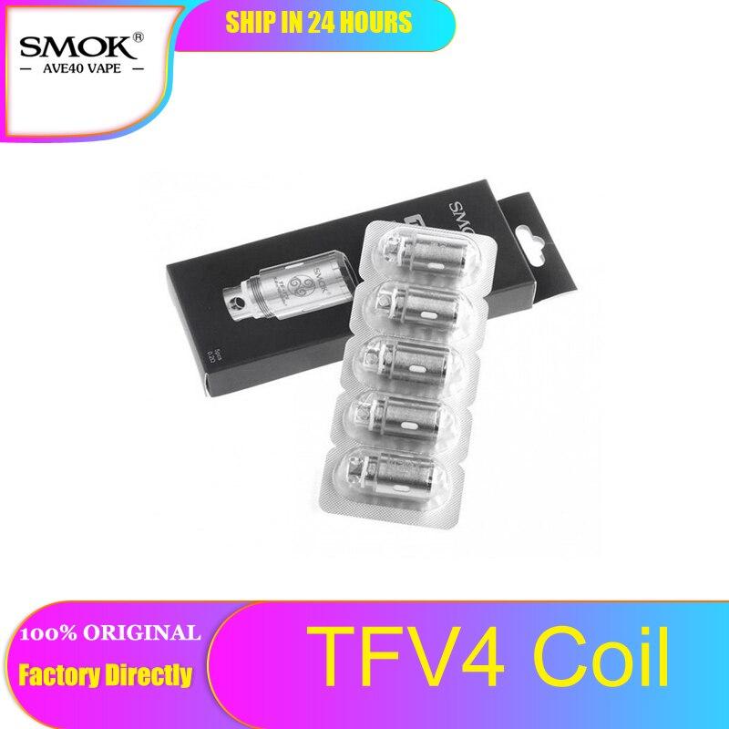 5 pces original smok tfv4 cabeça de bobina de substituição tf stc2/tfv4 quadrupl/tf s6/tfv4 tf t3 bobina tripla para smok tfv4 e-tanque de cigarro
