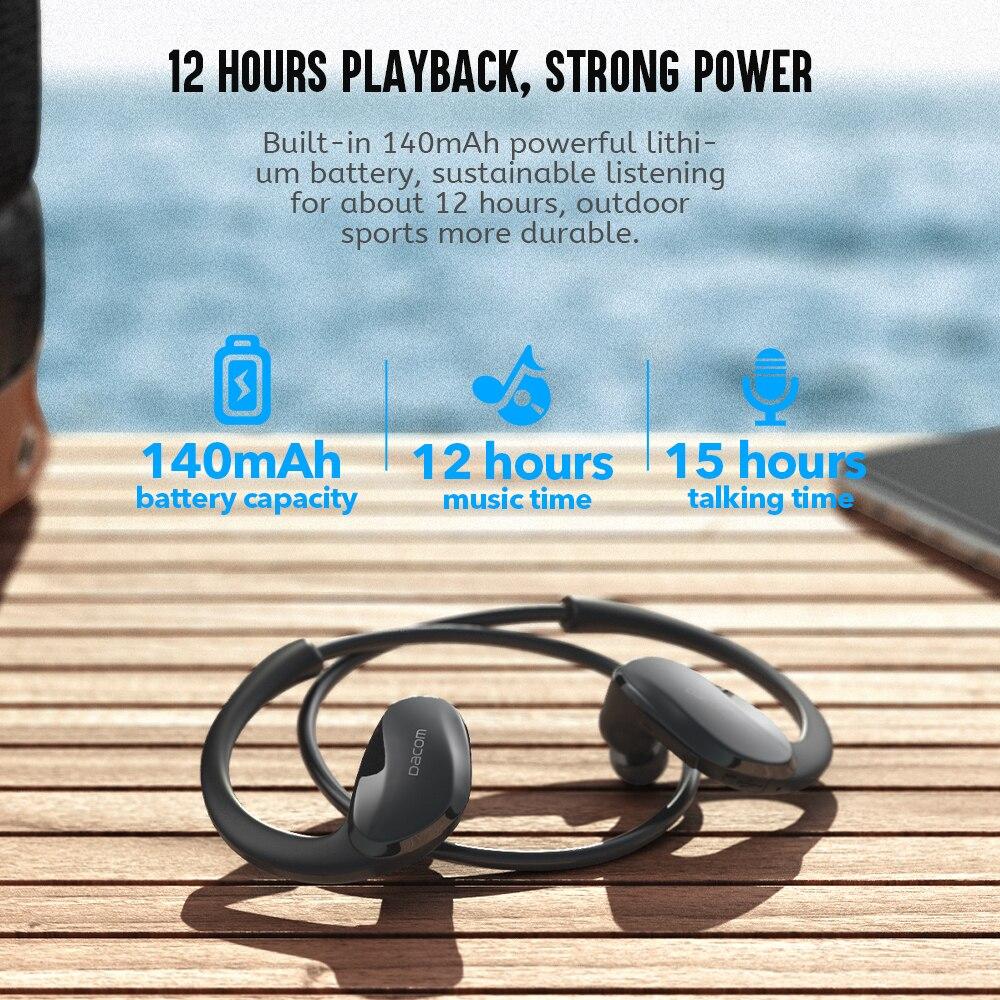 Dacom Athlete Sports Wireless Headphones IPX5 Waterproof Bluetooth Earphones Running Headset Head Ear Phones with Handsfree Mic 2