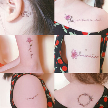 Beautiful Water Transfer Tattoos Womens Body Art Makeup Cool 3D Waterproof Temporary Tattoo Stickers image