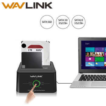 "Wavlink USB C 3.1 to SATA Dual Bay External Hard Drive Docking Station for 2.5/3.5"" HDD/SSD Offline Clone/Backup/UASP Functions - DISCOUNT ITEM  39 OFF Computer & Office"