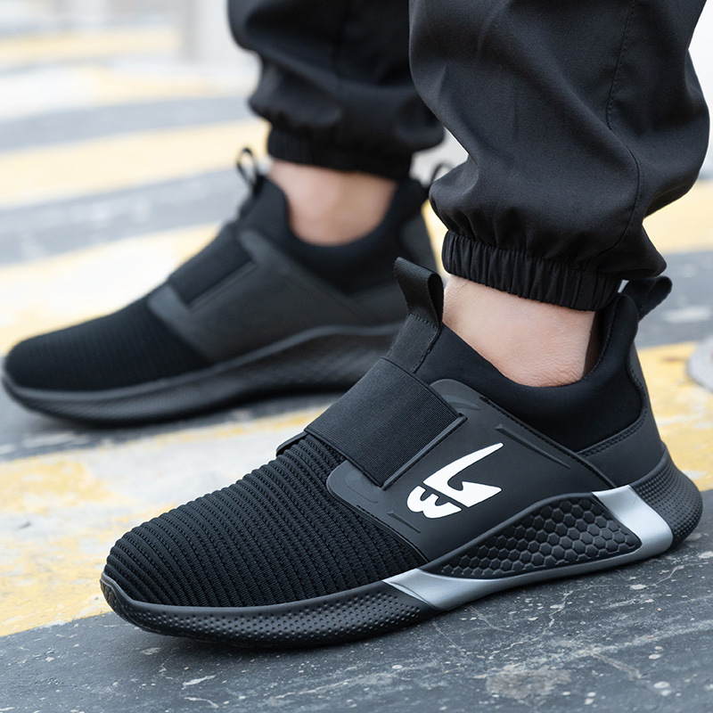 Men's Safety Shoes Steel Toe Work Safety Boots Plus Size 6-48 Men Security Puncture Proof Boots Work Breathable Sneakers