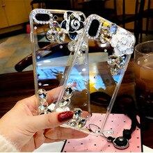 Flower Glass Rhinestone Phone Case For Nokia 2.2 1 plus 8.1