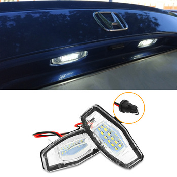 6000K License Plate Light 12V Super bright Exterior For Honda Acura TL TSX MDX Civic White image