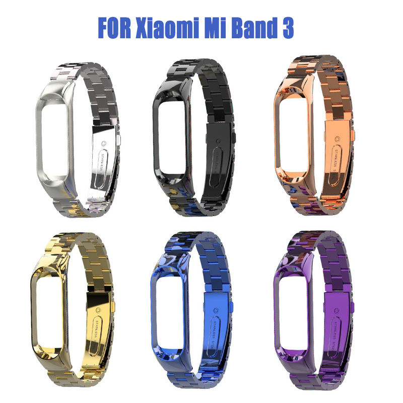 For Xiaomi Mi Band 3 Milanese Stainless Steel Luxury Wrist Strap Metal Wristband For Xiaomi Watch Strap Replacement Accessories