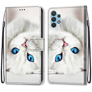 Image 4 - Etui On For Samsung Galaxy A32 4G A32Lite 6.4 inch Case Wallet Flip Leather Case For Samsung A32 5G 6.5 Cute Animal Phone Cover