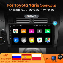 AWESAFE PX9 Control de voz pantalla Multimedia para Toyota Yaris Radio Fascia 2008 Radio de coche 2005 -2012 navegador GPS Android 2 Din