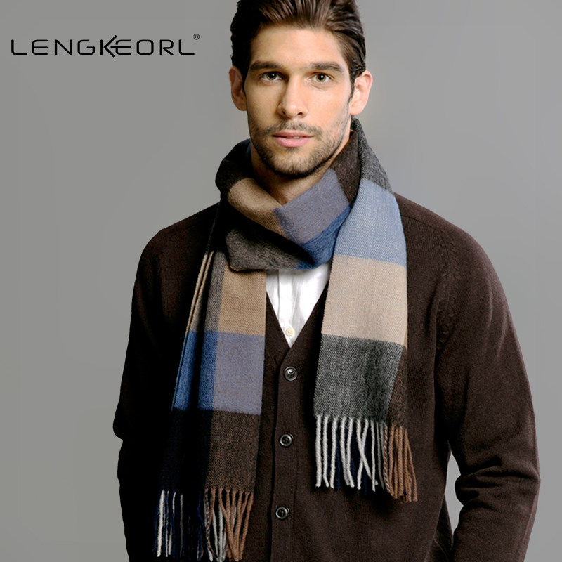 2016 Male Female winter scarf scarf men wool plaid bandana cashmere bandana muffler lovers thick thermal double faced Solid love