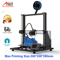 Anet DIY Large 3D Printer A8 Plus All Metal Frame FDM Impresora 3D Support TPU Priniting Size 300*300*350mm Dual Z Motor